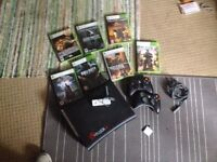 xBox 360, assorted games, 2 wireless controllers, 120gb HDD, WLAN card **£50**