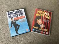 Michael McIntyre x2 comedy stand up tour dvd's