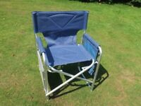 Two Folding Strong Director's Chairs (As New)