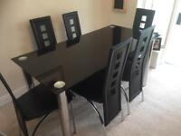 Glass Dining Table And Chairs In Sheffield South Yorkshire