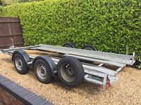 Brian James Clubman Car Trailer Transporter 4 Wheel Twin Axel Braked