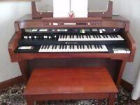 Hammond electric organ and stool