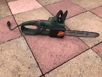 Black and Decker electric chainsaw.