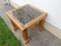 Pitch Pine Marble Table