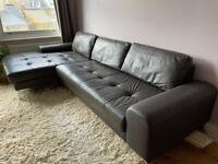 Leather Sofa Corner Vittorio by made com