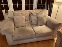 Sofa, chair & 2 footstools