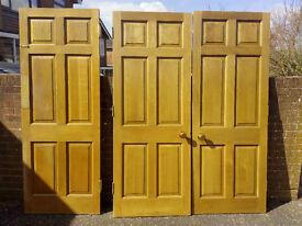 Three Solid Oak Internal Doors