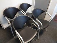 Black vinyl office chairs