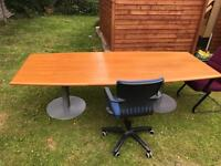 Boardroom conference dining table solid woood