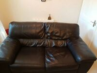 2 seater leather sofa DFS