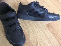 Boys black adidas trainers , size 3