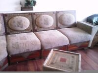 8 piece moroccan sofa corner style with coffee table Good Condition £130 need to go by friday