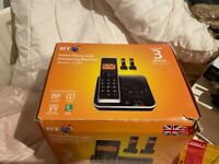 BT Xenon 1500 Home Phone 3 Handsets cradles and answerphone new still in box