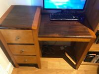 Desk craft made in solid wood