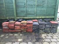 Old Victorian paving tiles