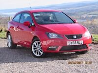 15/65 SEAT IBIZA 1.4 TOCA 3 DOOR, RED, 1 OWNER. £500 LESS THAN ARNOLD CLARK CARS