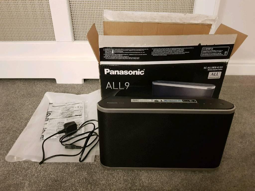 Panasonic SC-ALL9EB-K Wireless Speaker Bluetooth Wi-Fi