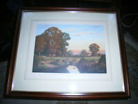 Vicent selby limited print - sunday afternoon . signed by artist