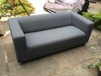 IKEA KLIPPAN two seat sofa - Flackarp medium grey