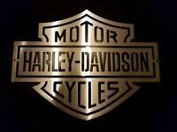 Harley Davidson Emblem - Sign Decal Norton Yamaha Suzuki Kawasaki Triumph honda Enfield BSA