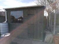 Garden shed / workshop with windows - 10 feet x 8 feet - must go. Bristol / Whitchurch area