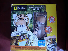Brand new unopened National Geographic Activity kits make your own soft toy. Panda and tiger.