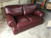 Thomas Lloyd brown leather sofa, 2-3 seater - used, good condition