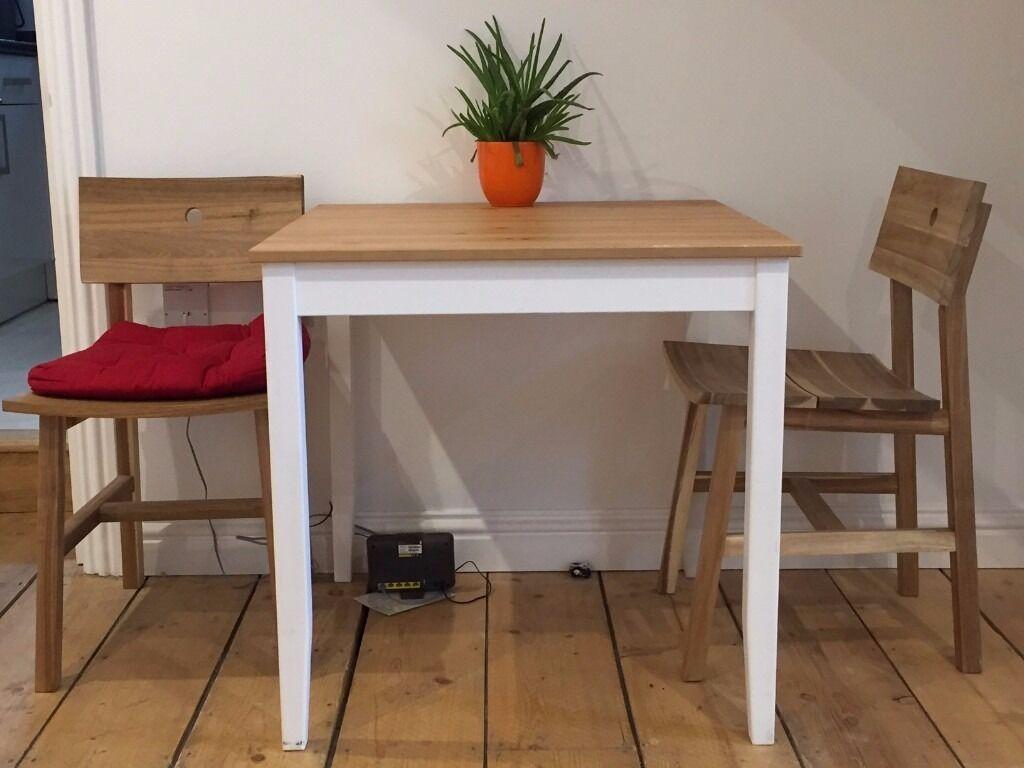 ikea table lerhamn light antique stain white stain in margate kent gumtree. Black Bedroom Furniture Sets. Home Design Ideas