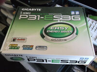 New Gigabyte P31-ES3G Motherboard & Accessories