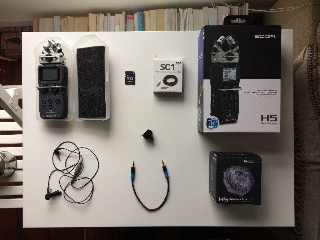 Zoom H5 Digital Recorder + Accessory Bundle - LIKE NEW   in Dulwich, London    Gumtree