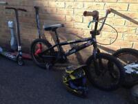 Kids bikes and scooters. Mongoose slamm madd