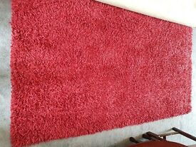 NEXT extra large red rug, 100% Pure New Wool, Excellent Condition