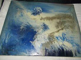 original oil painting (morphius of the sea)