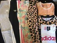 Genuine Girls Adidas sportswear bundle age 9-10