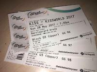 Kiss Birmingham 3 tickets