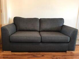 DFS - 3 seater sofa / couch Charcoal Grey