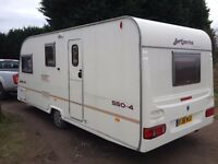 avondale argente 4 berth 2004 year motor mover +awning