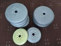 Set of weights Total 33.6 kg
