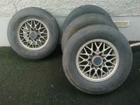 Isuzu 6 stud rims and tyres