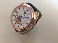 New Men's Cartier Tourbillon Automatic Watch, See Through Back