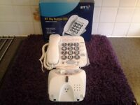 BT BIG BUTTON 100 CORDED TELEPHONE WHITE WITH WALL MOUNTING FACILITIES-Proceeds To Local Group Funds