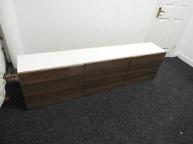 White and Walnut TV cabinet/storage unit