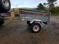 Small galvanised tipping trailer