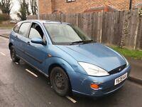 Ford Focus LX 1596cc Petrol Automatic 5 door hatchback Y Reg 03/04/2001 Blue