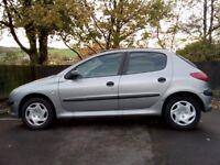 Peugeot 206 2002 5-dr hatchback. Low mileage. Lady owner. Good running order MOT
