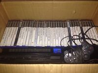 Playstation 2, 3 remotes & 36 games