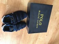 POLO Ralph Lauren Boy Shoes- Navy- Brand New