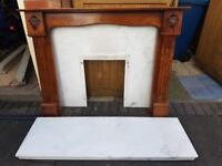 Marble Fire Hearth and Fireplace