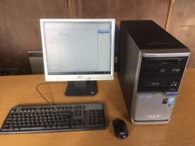 AcerPower F5 PC system, Windows 10 Pro, Office 2010 Pro Plus with monitor, keyboard & mouse