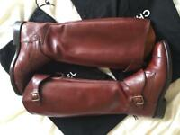 Rare authentic Chanel leather boots uk 6, 39 eu
